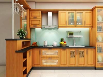 Quy trình đóng tủ bếp gỗ